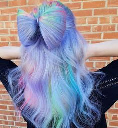 See here the most amazing and cute ideas of unique bow bun hairstyles to create in Learn through this post how to make this beautiful bun style for attractive hair looks in Pretty Hair Color, Beautiful Hair Color, Hair Bow Bun, Pulp Riot Hair Color, Hair Dye Colors, Coloured Hair, Crazy Hair, Weird Hair, Pastel Hair