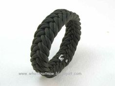olive drab paracord herringbone turks head knot by WhatKnotShop, $14.00