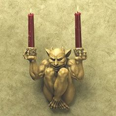 """The Offering"""" Gargoyle Wall Sconce"""