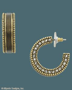 www.mysilpada.com/angela.garrow  Classic Brass hoops lined with bohemian Leather and luxe Crystals are just better together.