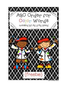ABC Order for Color Words {freebie}