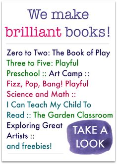 Brilliant books for creative kids learning :: ideas for homeschool and school :: hands-on, fun math, science, literacy and art - plus free printables