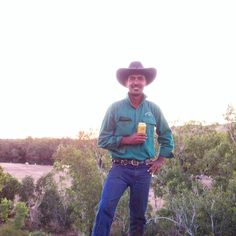 Our Brother Eddie Munday standing at the mighty Fitzroy River in the Kimberley Australia. Eddie and his brothers are Ringers at Noonkanbah station near Fitzroy Crossing.
