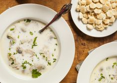 Lynne Rossetto Kasper's simple, classic creamy oyster stew was chosen as one of the 20 best recipes in the history of The Splendid Table. One spoonful and you'll know why. Clam Chowder Recipes, Seafood Recipes, Soup Recipes, Cooking Recipes, Seafood Soup, Chili Recipes, Yummy Recipes, Free Recipes, Gourmet