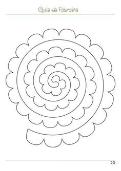 Rolled Paper Flowers, Paper Flowers Craft, Paper Roses, Flower Crafts, Diy Flowers, Fabric Flowers, Felt Flower Template, Felt Flower Tutorial, Silhouette Cameo 4