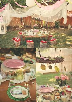 outdoor fairy party