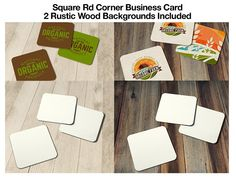 Square Business Card Template by CE DESIGNS on @creativemarket