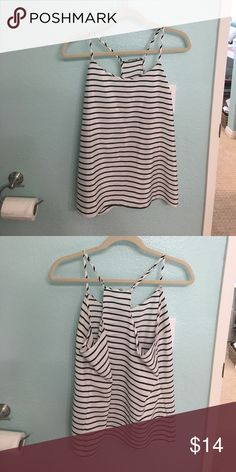 Stripped tank top 100% polyester, good condition! Very cute! J. Crew Tops Tank Tops