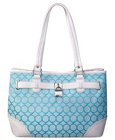 Nine West Handbag, 9's Jacquard Shopper - Tote Bags - Handbags & Accessories - Macy's