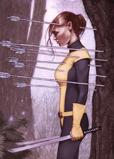 Kitty Pryde by Zachary Flagg Baldus -> Joss Whedon, i lament every time i think about it