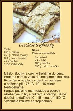 Czech Recipes, Christmas Baking, Food And Drink, Sweets, Bread, Cookies, Fruit, Vegetables, Cake
