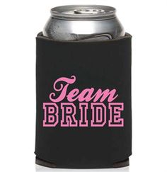 This Team Bride Can Cooler is the perfect accessory for your wild Bachelorette Party! It's a fun yet practical bachelorette party favor! #teambridecancooler#teambridepartyfavor#bachelorettepartyfavor#bacheloretteparty