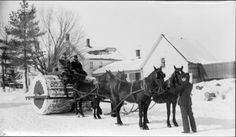 In the 1800s, Horse Drawn Rollers were often used to pack down the snow on country roads, rather than plow them.