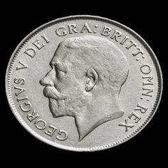 1924 George V Silver Shilling - Rare