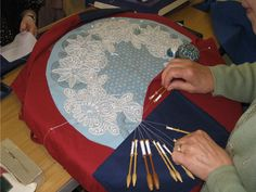 lace making image | Images of Carnon Downs Village Hall