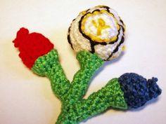 free pattern - crochet version of a floral logo - Euro 2012