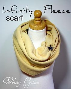 Tutorial - Infinity Fleece Scarf