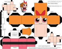 As requested by my daughter, I made cubees of the Powerpuff Girls. Powerpuff Girls belong to Craig Mc. Origami Templates, Origami Box, Origami Paper, Box Templates, Paper Craft Templates, 3d Paper Crafts, Paper Toys, Foam Crafts, Disney Paper Dolls