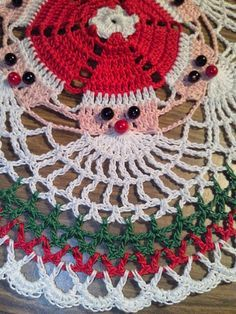 Image Detail For -Santa Crochet Doily Ce - maallure Crochet Applique Patterns Free, Crochet Snowflake Pattern, Christmas Crochet Patterns, Holiday Crochet, Crochet Snowflakes, Doily Patterns, Christmas Knitting, Crochet Doilies, Hand Crochet