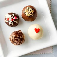 Just when you thought truffles couldn't get any richer, an elegant drizzle of dark chocolate or white baking chocolate tops them off!