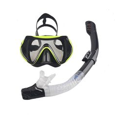 2016 New Professional Scuba Diving Mask Snorkel Anti-Fog Goggles Glasses Set Silicone Swimming Fishing Pool Equipment 6 Color