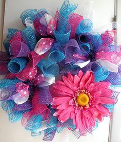 fun summer wreath--I love this!