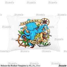 Release the Kraken! Template Decorative Pillow
