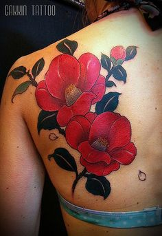 tsubaki,freehand by Gakkin | free hand work by Gakkin,kyoto.… | Flickr