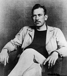 John Steinbeck.  He wrote books that make me weep.  I've never been as moved by literature as I have by several of Steinbeck's novels: Of Mice and Men, The Grapes of Wrath, East of Eden, Travels with Charlie. I can read them again and again, just for the pure art of the writing.
