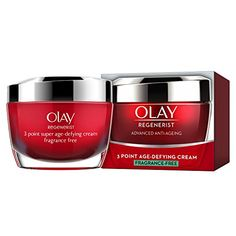 Olay Regenerist 3 Point Firming Anti-Ageing Cream Moisturiser, Firms Skin and Reduces the Look of Wrinkles, 50 ml Night Face Cream, Anti Aging Night Cream, Best Anti Aging, Anti Aging Skin Care, Goji, Olay Regenerist, Anti Aging Moisturizer, It Goes On, Skin Firming