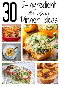 30 Dinner Ideas with