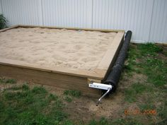 Building A Sandbox With Cover, Wooden Countertops Diy, Peachtree ...