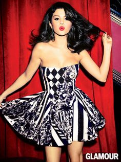 Selena Gomez rocks a dress by Balmain and Neil Lane earrings.