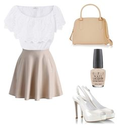 Work Day In The City by baileylovesvolleyball on Polyvore featuring polyvore, fashion, style, Miguelina, Chicwish, Fratelli Karida, Nina Ricci, OPI and clothing