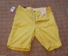 #POLO Ralph Lauren men size 34 bright yellow cotton shorts NWT RalphLauren visit our ebay store at  http://stores.ebay.com/esquirestore