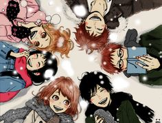 I am definitely obsessing over Ao Haru Ride... This morning I woke up at around 6, having a horrible nightmare. I don't really know why, but Kou was killed, trying to protect Futaba. I spare you al...