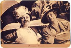 """The Queen Mother with Eleanor Roosevelt - 2 of the guests at my """"If you could have a dinner party with anyone in history, who would you invite?"""" dinner. Both just fascinate me!"""