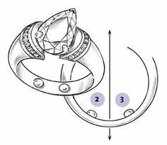 Keeping Rings Upright on Fingers - inserire degli inserti per adattare la misura di un anello al dito