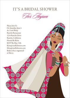 1c0c1ba515c0 Bling Diva Indian Bridal Shower Invitations by  Soulfulmoon Bollywood  Wedding