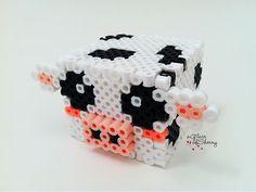 Items op Etsy die op Perler 3D Cow lijken