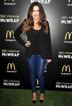 Khloe Kardashian: She is my favorite. Love her spunk and style. She's tall like me and can relate to weight issues.