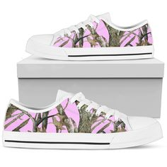 7167e54b4926f Pink Camo Canvas High Top or Low Top Shoes.  pinkcamo  pinkcamouflage   huntingcamouflage