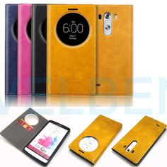 For LG G3 Case cover Synthetic Leather Wallet Pouch Quick Circle hold lock #BuffaloFLIP