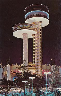 Observation Towers at New York State Exhibit - New York World's Fair 1964-65