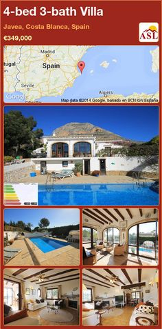4-bed 3-bath Villa in Javea, Costa Blanca, Spain ►€349,000 #PropertyForSaleInSpain