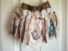MEDIUM Cowgirl Gypsy Fringe Purse  - Bohemian Western Fringe - Shabby Handbag - Hippie Bag