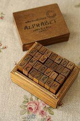 vintage handwriting alphabet stamps - uppercase, £11.00