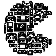 Adhesive vinyl sticker of video games and consoles with a cool Pacman shape to decorate your bedroom walls and game area. The Effective Pictures We Offer You About Video Games ideas A quality picture Ps Wallpaper, Deco Kids, Gaming Wallpapers, Ps4 Games, Adhesive Vinyl, Boy Room, Game Design, Playstation, Game Art