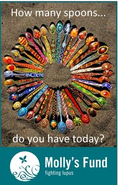 How many spoons do you have today? www.mollysfund.org #lupus #spoontheory