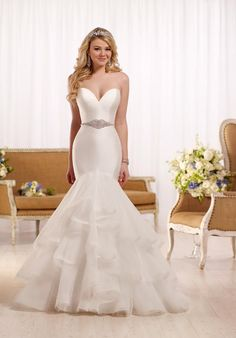 Mermaid gown with textured bottom. Just beautiful.